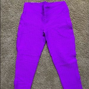 BootyQueen Anti-Cellulite Leggings in Size Large